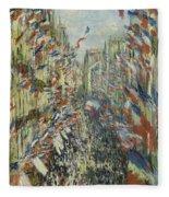 The Rue Montorgueil In Paris  Celebration  Fleece Blanket