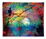 The Secret Path Of Night Fleece Blanket