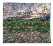 The Simplicity Of Bubbles  Fleece Blanket