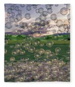 The Simplicity Of Bubbles  Fleece Blanket