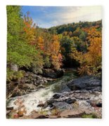 The Sinks On Little River Road In Smoky Mountains National Park Fleece Blanket