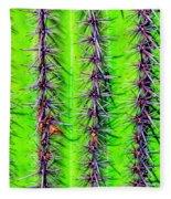 The Spines Of The Cactus Fleece Blanket