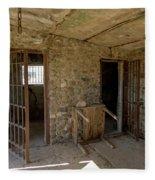 The Stone Jailhouse Interior Fleece Blanket
