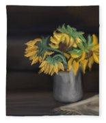 The Sun Flowers  Fleece Blanket