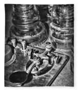 The Telegraph And Glass Insulators Black And White Fleece Blanket