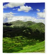 The Top Of Independence Pass Fleece Blanket