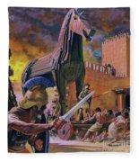 The Trojan Horse Fleece Blanket