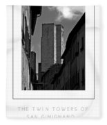 The Twin Towers Of San Gimignano, Italy Poster Fleece Blanket