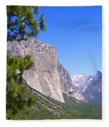 The Valley Of Inspiration-yosemite Fleece Blanket