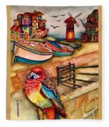 The Venician Bird Fleece Blanket