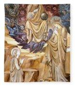 The Vision Of Saint Catherine Fleece Blanket