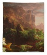The Voyage Of Life Childhood, 1842 Fleece Blanket