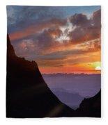 The Window At Sunset, Big Bend National Fleece Blanket