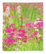 The World Laughs In Flowers - Primula Fleece Blanket