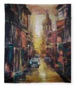 The Yellow Street Fleece Blanket