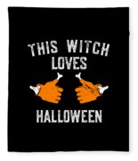 This Witch Loves Halloween Fleece Blanket