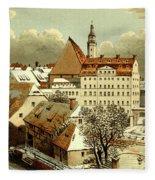 Thomasschule In Leipzig Fleece Blanket