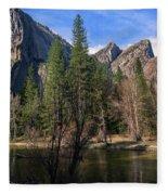 Three Brothers, Yosemite National Park Fleece Blanket