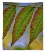 Three Leaves Fleece Blanket