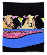 Three Sheeps To The Wind  Fleece Blanket