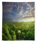Through Strength Of Faith Fleece Blanket