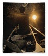 Through The Darkest Nights Fleece Blanket