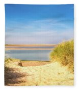 Through The Dunes Over To Budle Bay Fleece Blanket