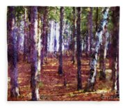 Through The Forest Fleece Blanket