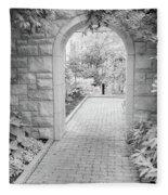 Through The Garden Gate Fleece Blanket