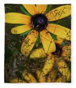 Through The Meadow Grasses Fleece Blanket