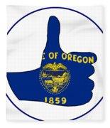 Thumbs Up Oregon Fleece Blanket