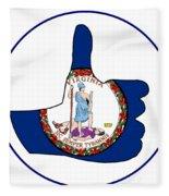 Thumbs Up Virginia Fleece Blanket