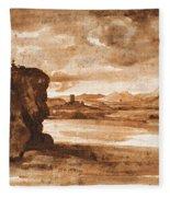 Tiber Landscape North Of Rome Wi  Fleece Blanket