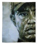 Tiger Woods - On The Road Again  Fleece Blanket