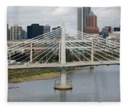 Tilikum Crossing, Portland, Oregon, Usa Fleece Blanket