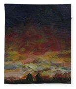 Tiny Sunset Fleece Blanket