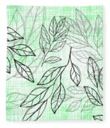 Titoki Leaf Fleece Blanket by Jocelyn Friis