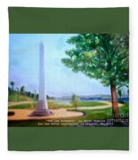 Tom Lee Monument Anniversary Print Fleece Blanket