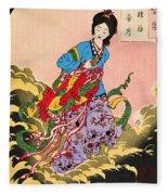 Top Quality Art - Jyoga Hongetsu Fleece Blanket