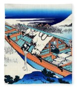 Top Quality Art - Mt,fuji36view-joshu Ushibori Fleece Blanket