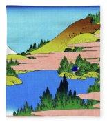 Top Quality Art - Mt,fuji36view-soshu Hakone Kosui Fleece Blanket