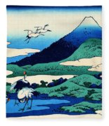 Top Quality Art - Mt,fuji36view-soshu Umezawanosho Fleece Blanket