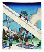 Top Quality Art - Mt,fuji36view-toutoumi In The Mountains Fleece Blanket