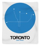 Toronto Blue Subway Map Fleece Blanket