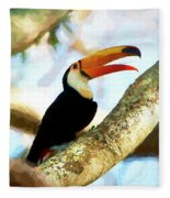 Toucan On A Tree Fleece Blanket