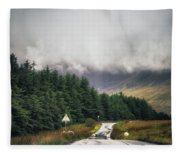 Towards The Fairy Pools Fleece Blanket