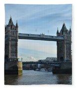 Tower Bridge At Afternoon In London Fleece Blanket