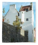 towerhouse and turret at Culross Fleece Blanket