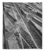 Tracks In The Sand Fleece Blanket