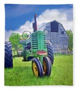 Tractor - On The Farm Fleece Blanket